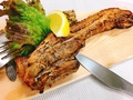 料理メニュー写真豚バラ肉の自家製スモーク1枚焼き