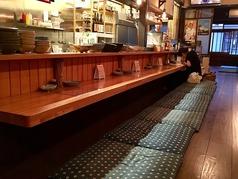 掘りごたつスタイルのカウンター席!京町家の雰囲気を感じたままカウンターでもおくつろぎいただけます♪