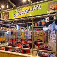 韓国の屋台を感じる店内