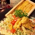 料理メニュー写真大粒生ウニの絶品クリームパスタ