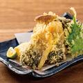 料理メニュー写真とろさばと季節野菜の天ぷら