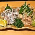太刀魚炙り刺身、本カワハギ肝和え