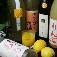 果実酒の品揃えが豊富