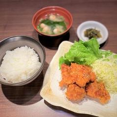鶏唐揚げ(5個)定食