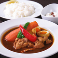 料理メニュー写真スープカレー(チキン・野菜)