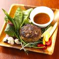 料理メニュー写真ソースが選べるおつまみまん丸ハンバーグ