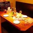 ボックス席を完備!半個室空間でお食事とお酒をお愉しみ下さい。