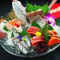 料理メニュー写真朝〆鮮魚のお刺身5点盛り