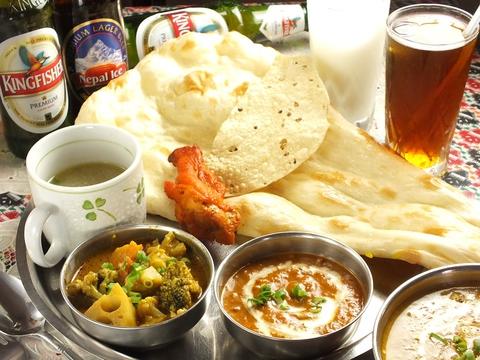本場インド料理が楽しめ、お酒の種類も豊富♪