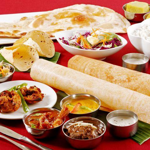 歓送迎会に最適!【初めての南インド料理カジュアルコース】全10品+ナンとライス食放 3500円