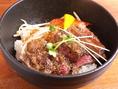 【ランチにおすすめ】牛ステーキ丼700円