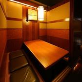 会社の同僚との飲み会やご家族でのお食事会にぴったりの4~6名個室。