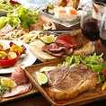 当店の一番人気メニュー「W肉盛りプラン」!!柔らかくて肉汁たっぷりな純和鶏のダッチオーブングリルと、国産牛を使用した旨味凝縮牛ヒレステーキが楽しめるコースです♪溢れ出す肉汁と柔らかなお肉とデミグラスソースの相性は抜群でお肉を存分にお楽しみください