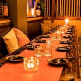 ◆秘密の個室◆4名様より個室席へご案内いたします。流木をはじめインテリアにこだわった店内は女子ウケ抜群!デートや合コンでのご利用に最適!また中型個室や団体様向けのお席は、新宿での女子会にも最適。ご利用人数とシーンに合わせて、お客様にご満足いただけるお席をご提供いたします!