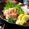 料理メニュー写真薩摩赤鶏炙り刺