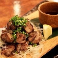 全国各地の旬菜と県産肉を使用した炭火料理