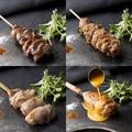 料理メニュー写真正肉・ねぎま・首肉・鶏レバー・皮・軟骨付きぽんじり・なんこつ