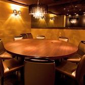 【完全個室】6名様~最大12名様まで…完全個室は人気のため、早期のご予約をお勧めしております。【その他】ご人数さまにおうじてパーティションで仕切ることも可能です。お気軽にご相談ください。