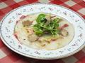 料理メニュー写真鯛のカルパッチョ黒トリュフ添え