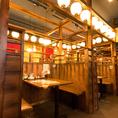 毎日翌5時まで元気に営業中♪店内は赤提灯に彩られ懐かしの音楽、懐かしの食材でノスタルジックな雰囲気に。お席は2名様から対応できるテーブル席間から50名まで対応可能な大宴会場など幅広くご用意しております