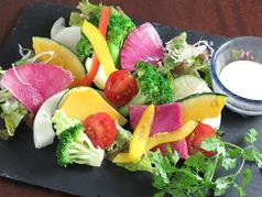 季節野菜のカニ味噌バーニャカウダ