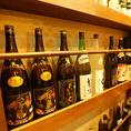 焼酎・日本酒の種類も豊富