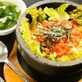 料理メニュー写真石焼明太チーズビビンバ