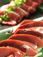 人気の肉刺身シリーズ