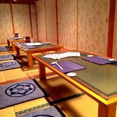 完全個室のお部屋は最大26名様迄。