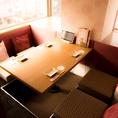 ◆2名様~4名様向けのお席◆ふかふかのソファでまったりとお寛ぎください。タッチパネルからのご注文で、お寛ぎのまま追加オーダーが可能です。女子会やお仲間内での飲み会などもずっとリラックスしたままでお過ごしいただけます。