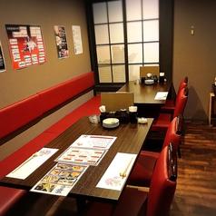 【テーブル1番+3番】6~10名様用の隠れ家席です。 カジュアルな接待におすすめです。