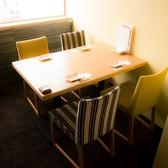 ◆2名様~4名様向けのお席◆プライベート感たっぷりのお席♪テーブル椅子タイプのご宴会個室席です。ご接待やお顔合わせにもご活用ください。完全個室のお席なら、ゆっくりとお酒を楽しむこともできます。お席のみのご予約も承りますのでお気軽にご相談ください。