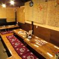 歓送迎会や仲間内での打ち解けた間柄の宴会にピッタリな中規模宴会個室です。