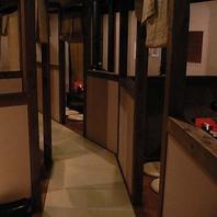 隠れ家風の半個室