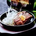 料理メニュー写真名物ビフテキ(50g)