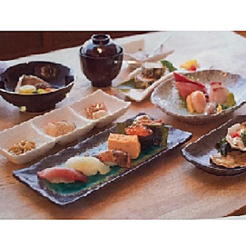 ++接待にもおすすめ++ すし屋の懐石コース 4400円(税込)