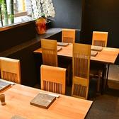 テーブル席4~6人掛け4席ご用意ございます♪