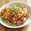 料理メニュー写真名物!ドデカ1枚肉の油淋鶏