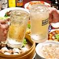 紹興酒やあんず酒など、中華料理にぴったりなお酒もご用意しております!各種宴会にも人気の2時間飲み放題付きコースなども多数ございます♪