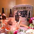 各種お祝いや宴会に最適な酒樽、金屏風、升タワー全てご予約でご用意できます♪