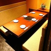 6名様用の完全個室。接待や大切な飲み会の時にご利用して頂けるお客様が多いです。