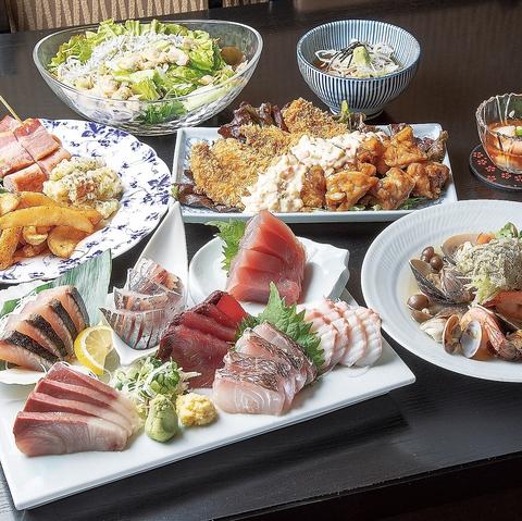 【ご宴会コース】刺身盛り合わせ7点含む全7品3500円(税込)