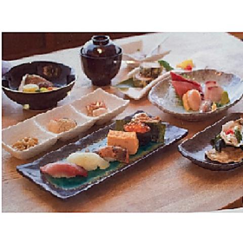 ++接待にもおすすめ++ すし屋の懐石コース 6050円(税込)