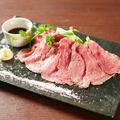 料理メニュー写真絶品!神戸牛の贅沢ローストビーフ