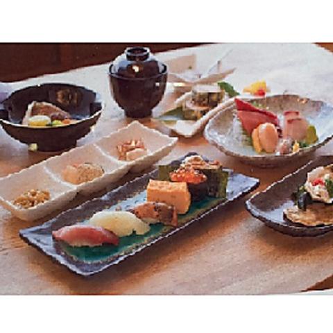 ++接待にもおすすめ++ すし屋の懐石コース 8250円(税込)