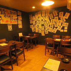 2,4名テーブル×4卓ございます。京橋駅から徒歩8分と駅チカなので普段使いから小宴会でのご利用にもピッタリです!