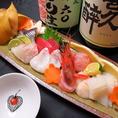★お造り盛り合わせ★愛知県豊浜漁港で獲れた新鮮なお魚をメインに旬のものを♪天然にこだわります!