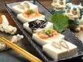 料理メニュー写真沖縄塩辛3点盛り