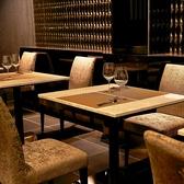 【2名様掛け×4卓】記念日やデートなどにもお勧めなテーブル席。