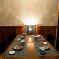 少人数での飲み会に!4名様用のテーブルも多数!☆おしゃれ☆【お忍び居酒屋 きのした新潟駅前店の店内空間】